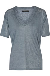 Isabel Marant Mariel Linen T Shirt Light Blue