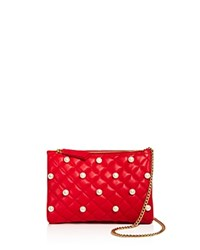 Boutique Moschino Faux Pearl Clutch Red