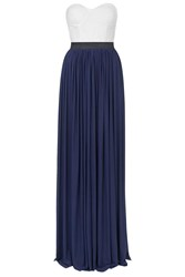 Two In One Contrast Maxi Dress By Rare Navy Blue