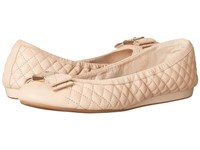 Cole Haan Tali Bow Quilted Ballet Nude Quilted Leather Women's Flat Shoes Beige