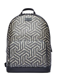 Gucci Zaino Geometric Print Backpack Beige