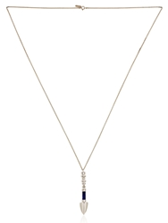 Tina Lilienthal London Arrow 2 Necklace Silver Blue