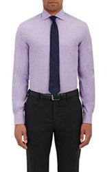Ralph Lauren Black Label Men's End On End Button Front Shirt Purple Size 16.5R