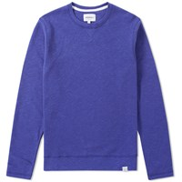 Norse Projects Halfdan Flame Overdye Sweat Blue