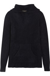 The Elder Statesman Hooded Cashmere Sweater Midnight Blue