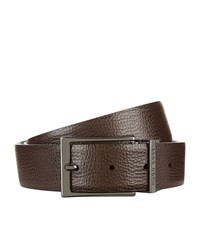 Boss Reversible Leather Belt Unisex Brown