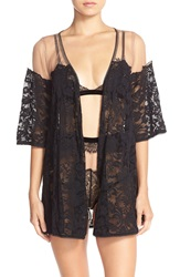 For Love Lemons 'Victorian' Tulle And Lace Robe Black