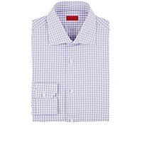 Isaia Men's Plaid Frank Shirt Light Purple
