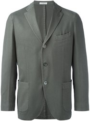 Boglioli Button Single Breasted Blazer Green