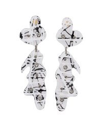 Christopher Kane Perspex Drop Earrings Black White