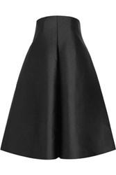 Solace London Camilla Strapless Duchesse Satin Dress Black
