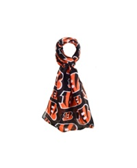 Forever Collectibles Cincinanti Bengals All Over Logo Infinity Scarf Black