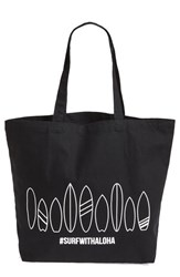 Workshop 28 'Surf With Aloha' Canvas Tote Black