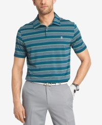 Izod Men's Performance Striped Golf Polo Blue Coral