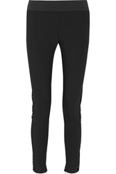 Stella Mccartney Denise Cotton Blend Skinny Pants Black