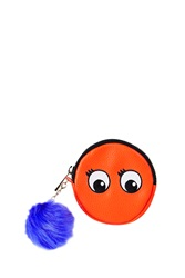 Topshop Embroidered Novelty Eyes Coin Purse Orange