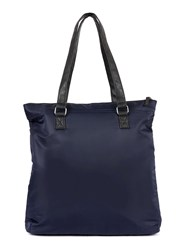 Topman Navy Nylon Shopper Blue