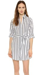 Cupcakes And Cashmere Florence Striped Shirtdress Ink