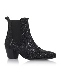 Kg By Kurt Geiger Razzle Glitter Ankle Boots Female Black