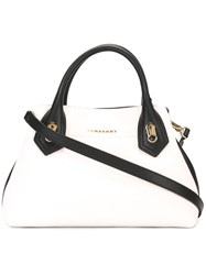 Burberry Contrast Detailing Tote Bag Nude Neutrals
