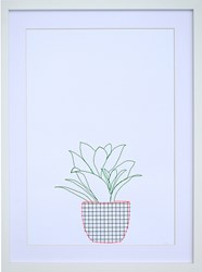 K Studio Potted Plant Wall Art