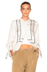 3.1 Phillip Lim Scarf Printed Top In White Abstract White Abstract