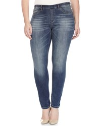 Marina Rinaldi Idrofono Jersey Denim Leggings Women's Navy Blue