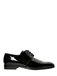 Fratelli Borgioli Patent Leather Derby Lace Up Shoes Black
