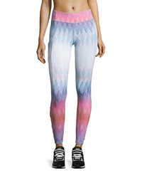 Charlie Jade Ruched Sided Ombre Leggings Blue Multi