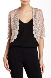 Laundry By Shelli Segal Lace Shrug Pink