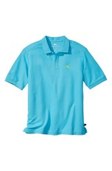 Men's Big And Tall Tommy Bahama 'The Emfielder' Pique Polo Blue Atoll