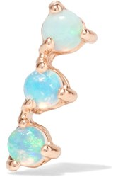 Wwake Three Step 14 Karat Gold Opal Earring