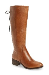 Steve Madden Women's Laceupp Knee High Boot Cognac Leather