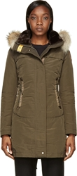 Parajumpers Olive Green Hooded Selma Coat