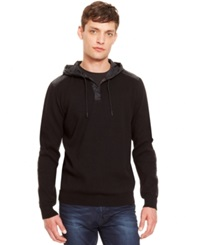 Kenneth Cole New York Pullover Hoodie Black