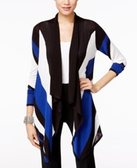 Inc International Concepts Colorblocked Waterfall Cardigan Only At Macy's