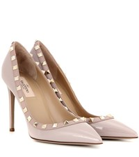 Valentino Rockstud Patent Leather Pumps Pink