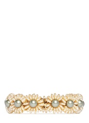 Miriam Haskell Pearl Flower Bracelet Clasp Multi Colour