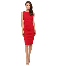 Nicole Miller Lauren Ponte Dress Lipstick Red Women's Dress