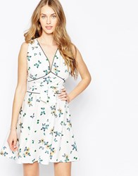 Trollied Dolly Marilyn Dress Cream Butterfly