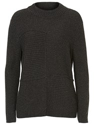 Betty Barclay Ribbed Crew Neck Jumper Anthracite Melange
