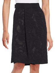 Pauw Stretch Wool Wrap Skirt Black