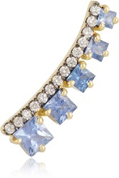 Jemma Wynne 18 Karat Gold Sapphire And Diamond Ear Cuff
