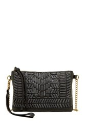 T Shirt And Jeans Woven Crossbody Black