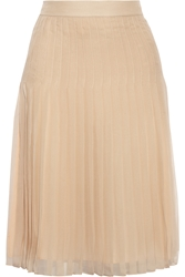 Givenchy Pleated Skirt In Beige Silk Chiffon