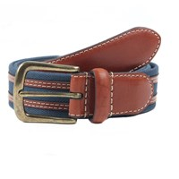 Dents Mens Webbing Belt Navy