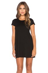 Michael Lauren Cuba Mini Tee Dress Black