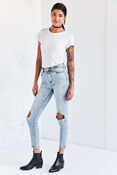 Bdg Twig High Rise Skinny Jean Acid Wash Slash Light Blue