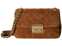 Michael Michael Kors Sloan Lg Chain Shldr Dark Caramel Shoulder Handbags Brown
