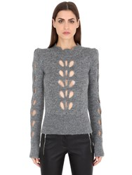 Isabel Marant Cutout Alpaca And Mohair Blend Sweater